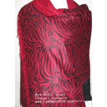 Cachemire New Zebra Print Red
