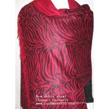 Cashmere New Zebra Print Red