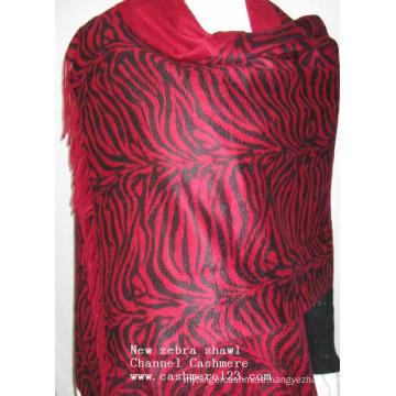 Cashmere New Zebra Print Red