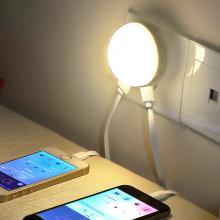 High Brightness Warm White Us EU UK Plug LED Nachtlicht mit Licht Sensor Dual USB Ladegerät für Schlafzimmer Home