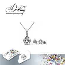 Destiny Jewellery Crystal From Swarovski Kristine Set Pendant and Earrings