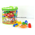 un sac de jouets en plastique de blocs de construction de numéro de lettre