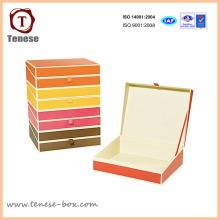 Cartão personalizado Caixa de presente de embalagem de papel para jóias, roupas, acessórios