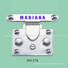 Accessoires en alliage de zinc, logo matériel