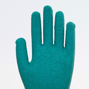 Cotton Anti-slip Wearable Latex Coated Safety Gloves