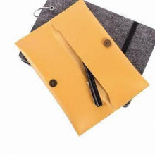 Artificial Leather Pencil Bag with Elegant Texture