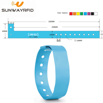 Bracelet RFID en PVC jetable Ultralight-C