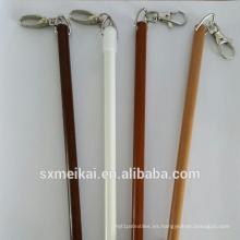 Bastón / varilla para cortinas de fibra de vidrio de 9,5 mm para cortina de ducha