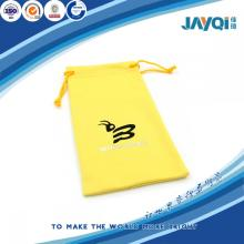Yellow Micro Fiber Eyeglass Pouch