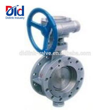 Desligue Wafer 8 Tipo de Engrenagem Inoxidável Assento de Metal Falnged Válvula Borboleta de Alta Temperatura 6 Polegada