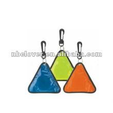 Triângulo pvc forma reflexiva cabide com luz led