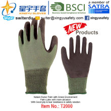 (Produtos de Patentes) Latex Coated Green Environment Gloves T2000