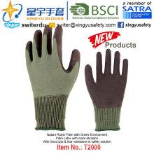 (Produtos de Patente) Luvas de Meio Verde Revestidas de Látex T2000
