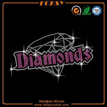 Bling Diamonds rhinestone iron on