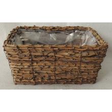 Cocoa handmade wooden basket