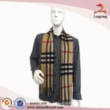 Écharpe rayée à la main en laine à la main 2014, écharpe en gros en tissu