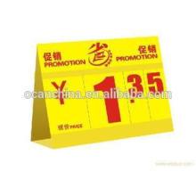 Rigid PVC Sheet Yellow Color PVC Film for Price Card