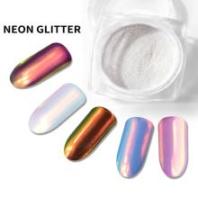 Polvo de neón para uñas, pigmento aurora, pigmento espejo.