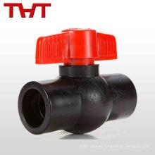 válvula de bola plástica de la junta del zócalo del HDPE
