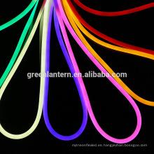Luz de LED flexible RGB 220V LED tubo de neón impermeable llevó la lámpara de la cuerda del tubo del tablero de la muestra SMD 2835