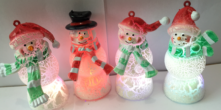 Christmas Gift Crack Series Christmas Snowman Lamp