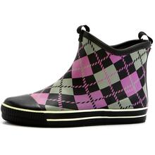 Diamond Check Printing Basketball Style Rubber Boots