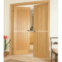 Melhor porta interior do MDF do preço, porta de madeira do folheado