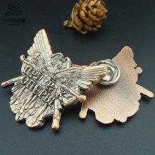 Custom Logo Antique Bronze Butterfly Pin Metal Badge for Promotional Gift