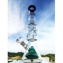 Beignet de verre Enjoylife Hbking Couvercle double en verre intérieur Qualité droite Tuyau fumant Tuyau d'eau en verre