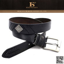 Wholesale long serve life black leather belts