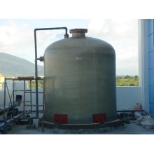 Tanque de armazenamento químico feito de fibra de vidro