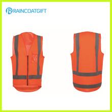 Gilet réfléchissant de sécurité réfléchissant de sécurité de couleur orange de haute visibilité
