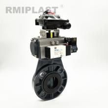 PVC Pneumatic Butterfly Valve Single Acting Type DIN ANSI JIS