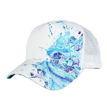wholesale high quality custom design your own logo blank curved bill mesh trucker caps for kids