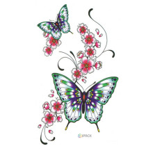 Sexy volwassen lichaam Butterfly Tattoo Stickers