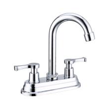 Durable Brass/zinc/201SS Material 90degree 4inch Basin mixer, Double handle basin faucet