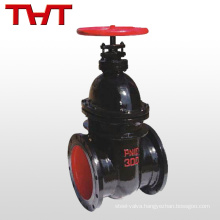 non rising stem pn 10 dn100 cast iron 4 flanged gate valve