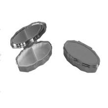 Овальная металлическая коробка для пилюль с серебряным / золотым цветом (BOX-03)
