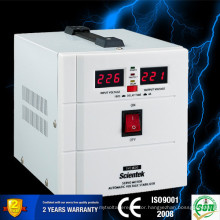 Single Phase Servo Motor Type Input 140 to 260V Output 220V 3% 1500va Voltage Stabilizer