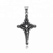 34508 xuping fashion gothique design en acier inoxydable bijoux pistolet noir couleur croix pendentif