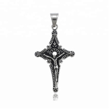34508 xuping fashion  Gothic design  Stainless Steel jewelry black gun color cross pendant