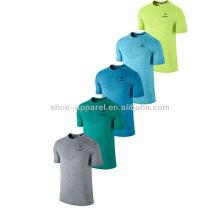 Mans mangas curtas t-shirt dos homens correndo camisa treinamento camisa apertada