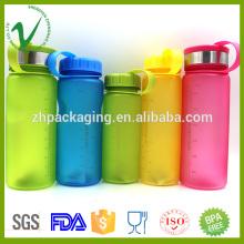 Botella de agua caliente plástica vacía redonda redonda colorida de la alta calidad PCTG para la consumición