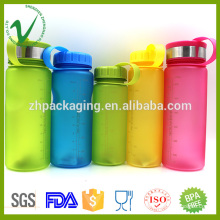 High quality PCTG colorful round empty plastic hot water bottle for drinking