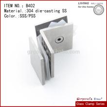 China 304 Fundición de acero inoxidable de vidrio de montaje de sujeción Clamp