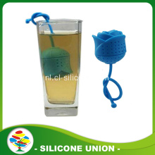 Rose Shape Silicone Theezakje Infuser
