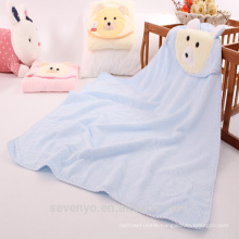 Organic bamboo baby hooded towel super fluffy premium baby bath towel Suit for Boys & Girls bear face baby towel