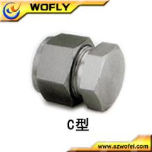 Bouchon de tube métallique en acier inoxydable