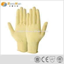 Желтые резиновые перчатки с арамидным волокном 13gauge