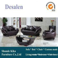 Modern Design Round Genuine Leather Sofa (8009)
